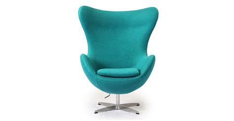 egg chair turquoise boucle wool