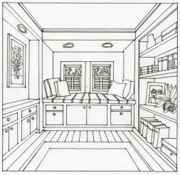 home drawing room interiors one point perspective interior drawing