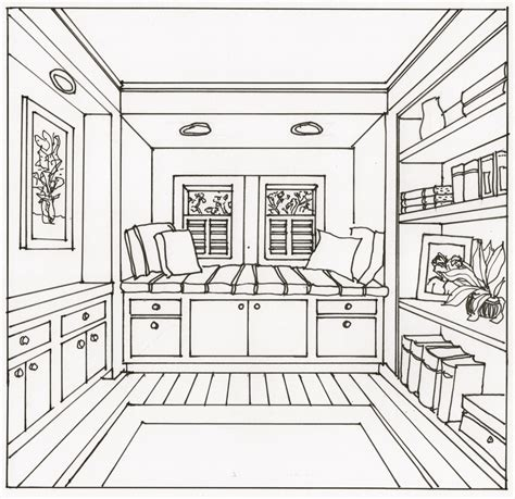 interior room sketch i am always looking for techniques that are easy and fast for drawing one point perspective