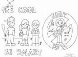 Coloring Drugs Pages Say Drug Printable Awareness Anti Drawing Getcolorings Sheets Bullying sketch template
