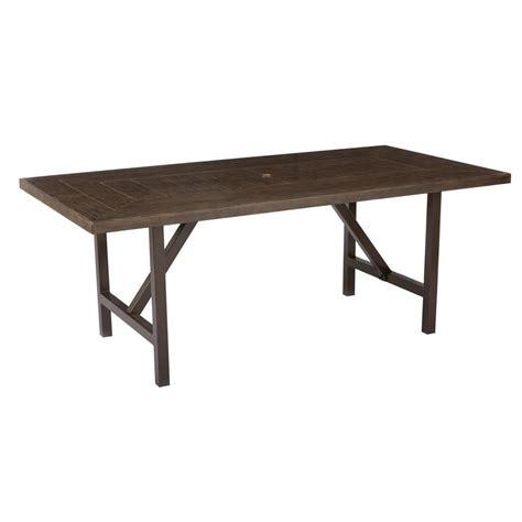 rectangular patio dining table hton bay middletown rectangular patio dining table