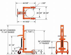 Part No  240250  Hydraulic Large Liquid Gas Cylinder Cart No Brake On Wesco Industrial Products