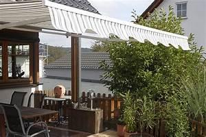 gelenkarmmarkise mit regenschutzdach kurbel markise With feuerstelle garten mit sonnenschutz balkon markise
