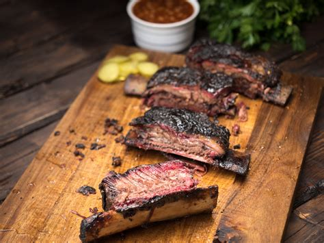 smoked beef ribs grilled