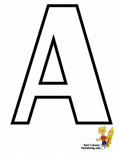 Alphabet Coloring Sheets Letters Yescoloring