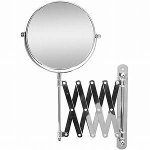 extendable wall mount bath magnifying makeup mirror With wall mounted extendable mirror bathroom