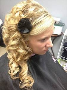 Long Side Swept Updo with Curls | hair | Pinterest