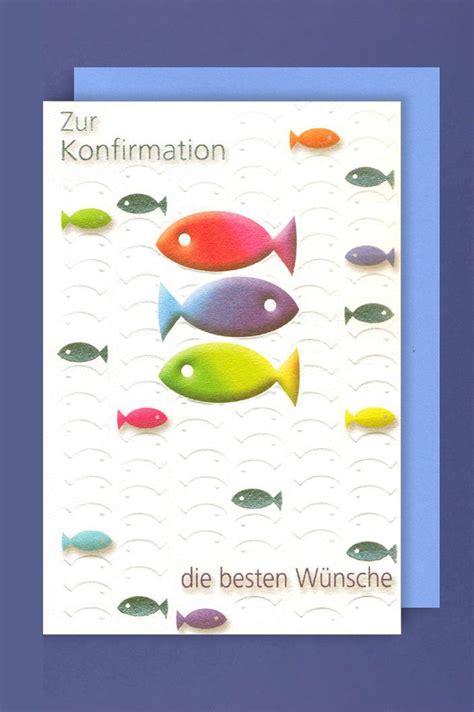 Konfirmation Grußkarte Die Besten Wünsche Bunte Fische 17