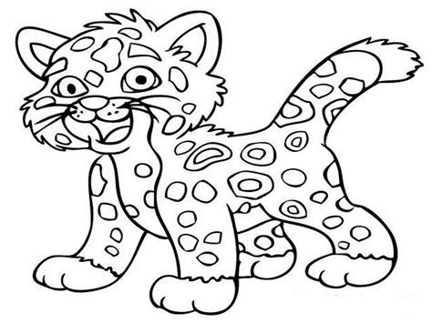 Jaguar Animal Coloring Pages Realistic 530748 Coloring