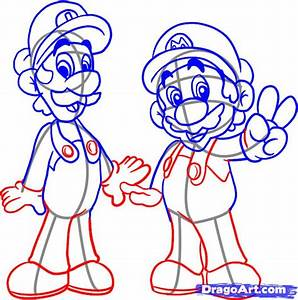 How to Draw Mario Bros, Step by Step, Video Game ...