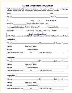 Sample Job Application