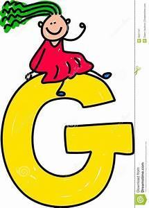 Letter G Girl Stock Vector Illustration Of Alphabet
