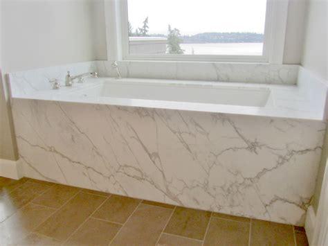 tub decking marble tub deck