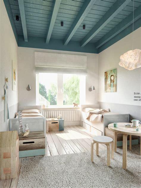teal ceiling beams interior design ideas