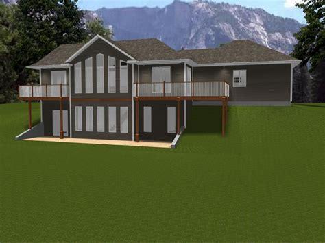 ranch house plans  walkout basement ranch house plans   law apartment bungalow plans