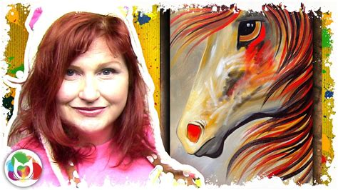 Spirit Horse Beginning Acrylic Painting Lesson Step By