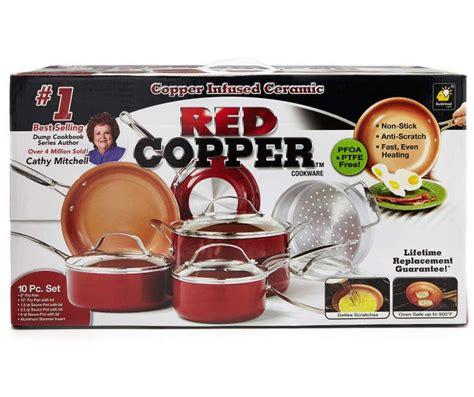 tv red copper  piece cookware set cookware set red copper cookware copper