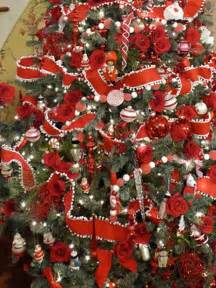 Christmas Trees with Ribbons as Garland