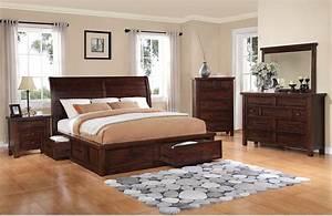 Sonoma 8-Piece Queen Storage Bedroom Set - Dark Brown