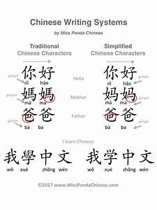 Traditional Chinese Characters Vs  Simplified Chinese