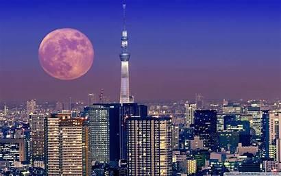 Tokyo Moon Japan Wide 4k Desktop Wallpapers