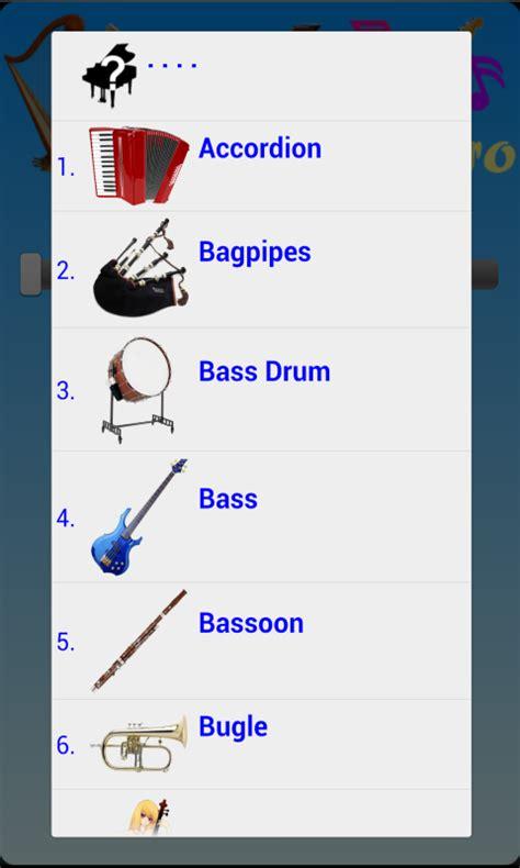 instruments names   clip art