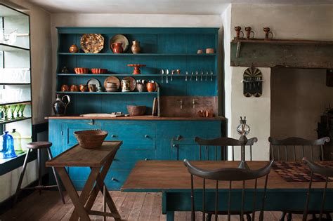 painting kitchen cabinets light gray rustic vintage teal blue kitchen interiors by color