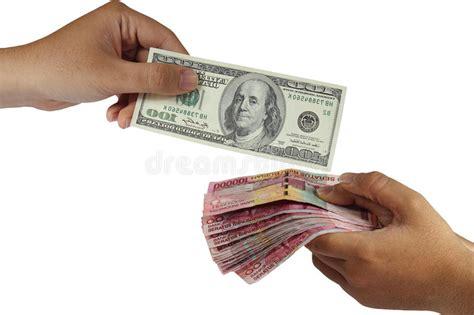 money trade dollar and rupiah money exchange stock photo image 48835721
