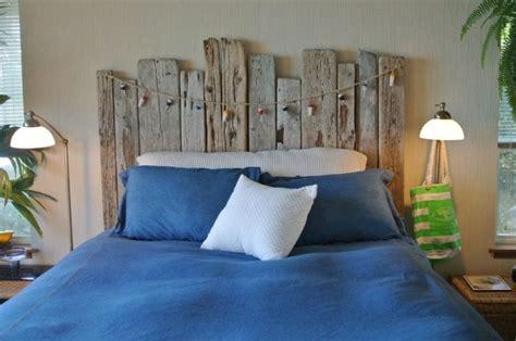 tete de lit chambre tête de lit bois flotté pour une chambre d 39 ambiance naturelle