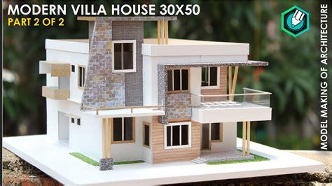 Model Making Of Modern Architecture Villa