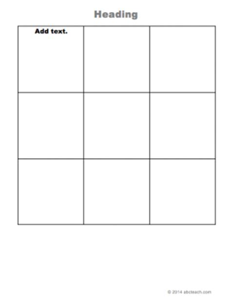 grid template columns 3x3 grid type in templates grids and columns graphic organizer abcteach