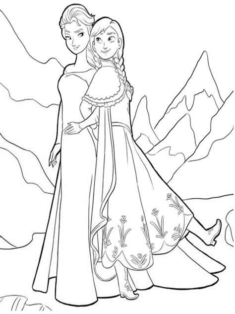 principesse da colorare elsa disegni da colorare e elsa