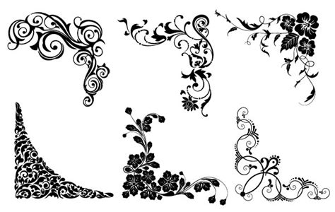 vector floral corners free vector