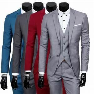 Tenue De Soirée Homme : costume homme 3 pieces mariage tenue de soir e f te blazer ~ Mglfilm.com Idées de Décoration