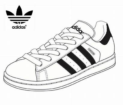 Coloring Adidas Shoes Pages Tennis Melting Sketch