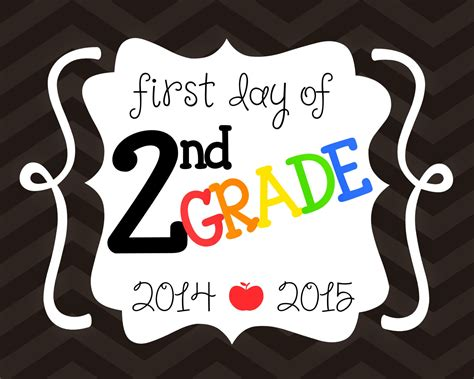 6 Best Images Of First Day Of 1st Grade Printables 2015