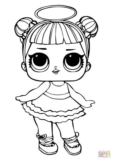Coloring Lol Dolls by Lol Doll Sugar Coloring Page Free Printable Coloring Pages