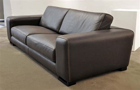 Roche Bobois Leather Sofa by Roche Bobois Quot Chocolat Quot Upholstered Leather Sofa At 1stdibs
