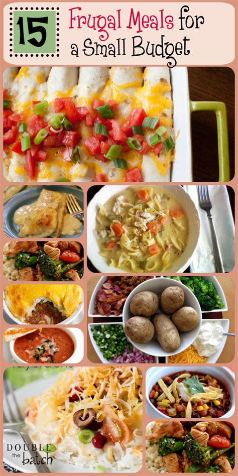 frugal meals   small grocery budget cheap meal plans