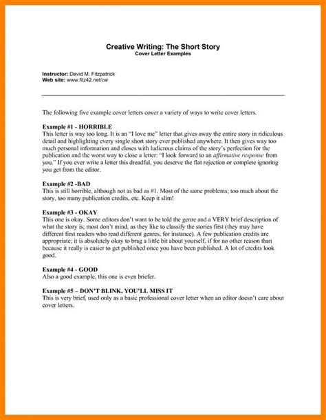Story Cover Letter by Cover Letter Template Business
