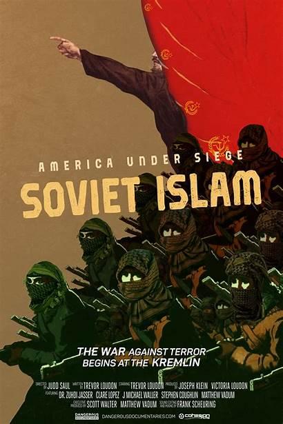 Islam Under Siege America Soviet Poster War