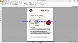 Navistar Cummins Isx 15l Engine Parts Manual G