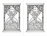 Hourglass Coloring Pages sketch template