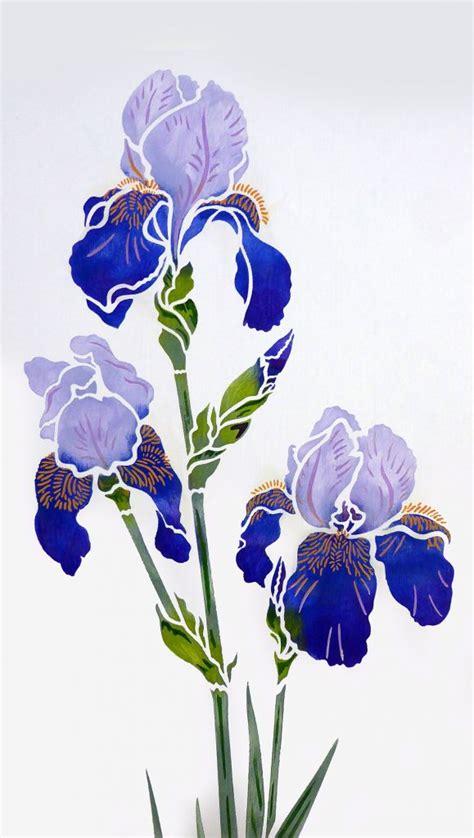 iris stencil  henny donovan motif