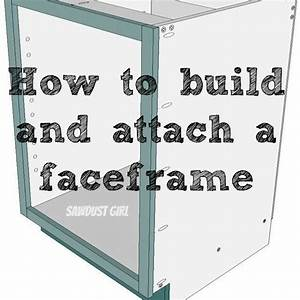 How to build and attach a cabinet faceframe - Sawdust Girl®