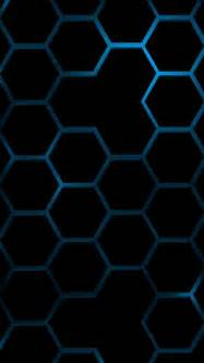 cool iphone backgrounds cool blue hexagon wallpapers for iphone 5