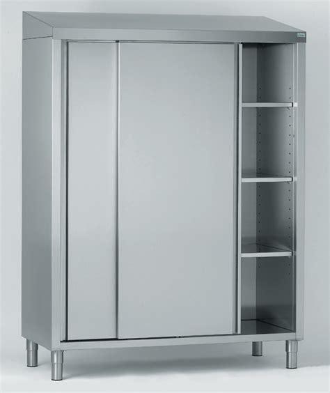 ugap mobilier de bureau armoire de rangement inox 2 portes coulissantes 3