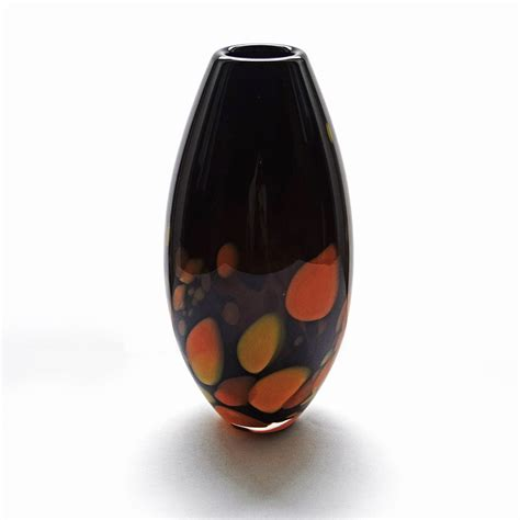 Handcrafted Vases by Handcrafted Glass Vase Black Galaxy By Kalki Mansel Glass