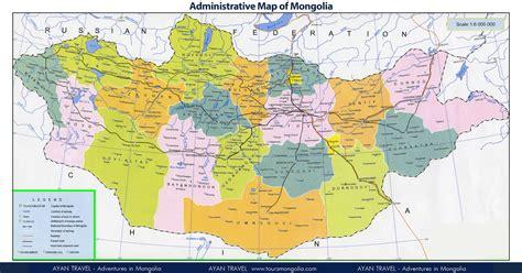 mongolia travel map road map mongolia tourist map mongolia