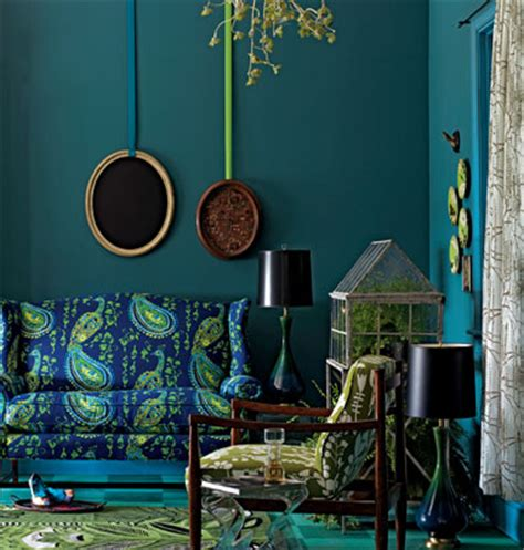 eye for design decorate your home with the color peacock blue
